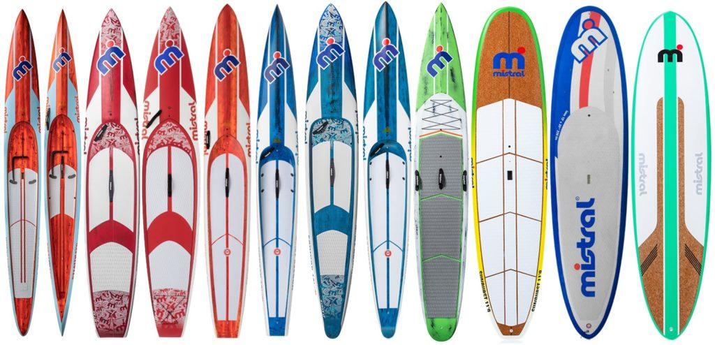 Mistral hardboard paddleboard range